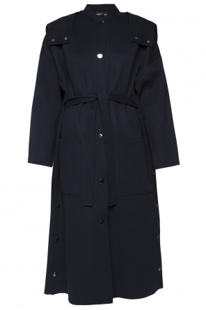 Band collar coat od Emporio Armani