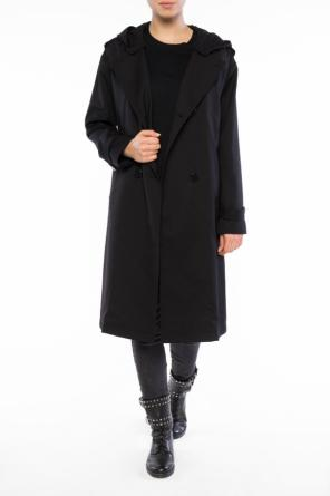 Hooded double-breasted coat od Emporio Armani