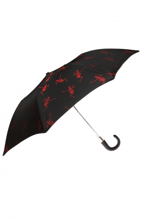 Umbrella with a skeleton motif od Alexander McQueen