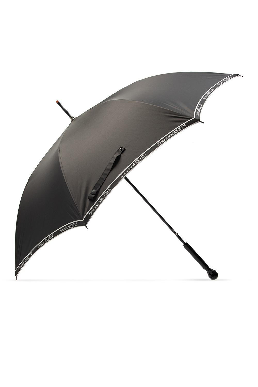 Alexander McQueen Logo-embroidered umbrella