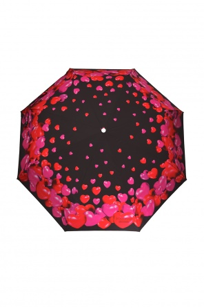 Heart motif folding umbrella od Moschino