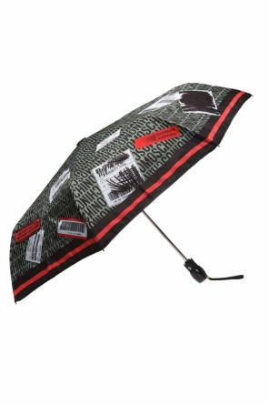 Folded umbrella with a logo od Moschino