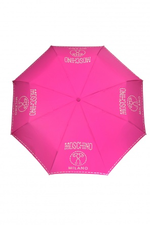 Logo-patterned folding umbrella od Moschino
