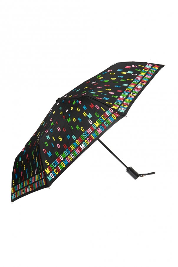 Moschino Patterned umbrella with logo