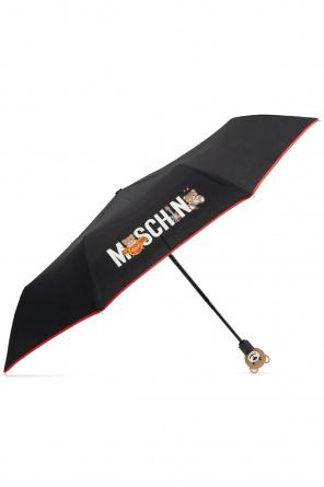 Składany parasol z logo od Moschino