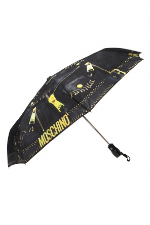 Logo-printed folding umbrella od Moschino