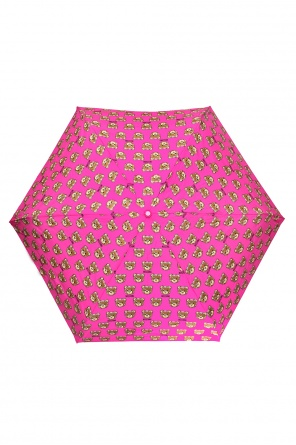 Patterned umbrella with teddy bear od Moschino