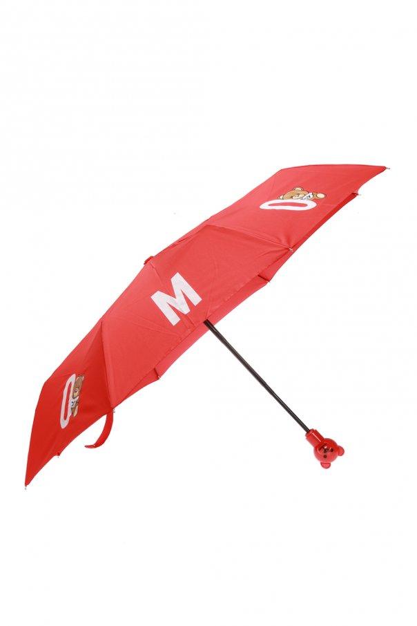 Moschino Parasol z nadrukowanym logo