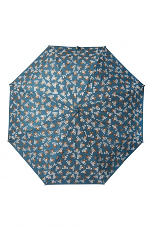 Folded umbrella with a print od Moschino
