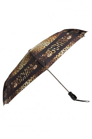 Leopard printed umbrella od Moschino