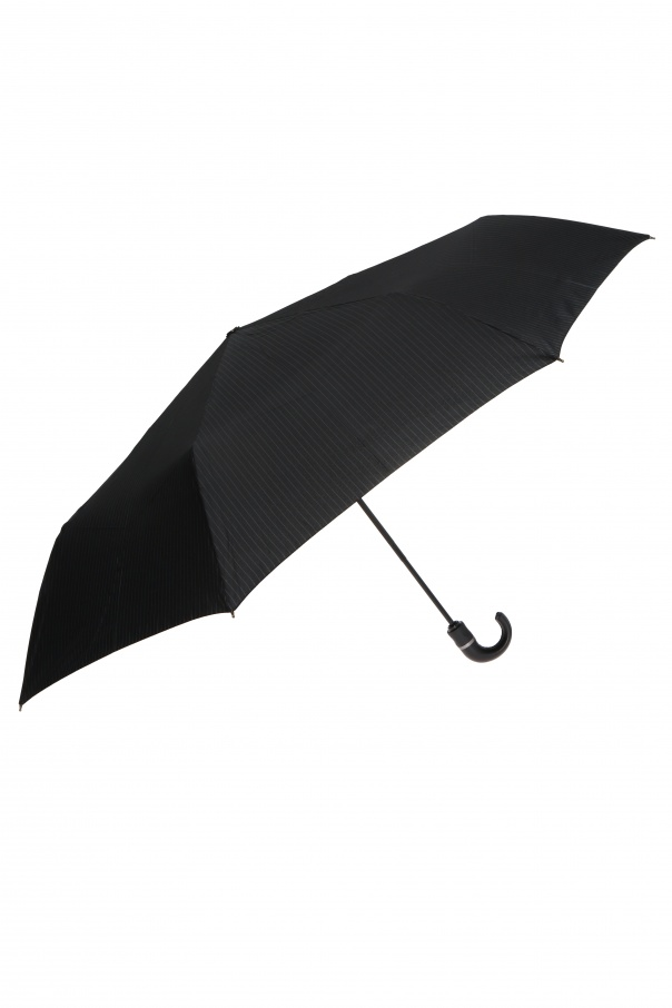 Moschino Pinstriped folding umbrella