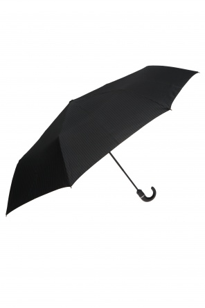 Pinstriped folding umbrella od Moschino