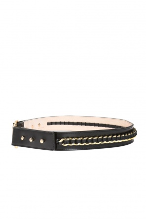 Logo-buckle belt od Balmain