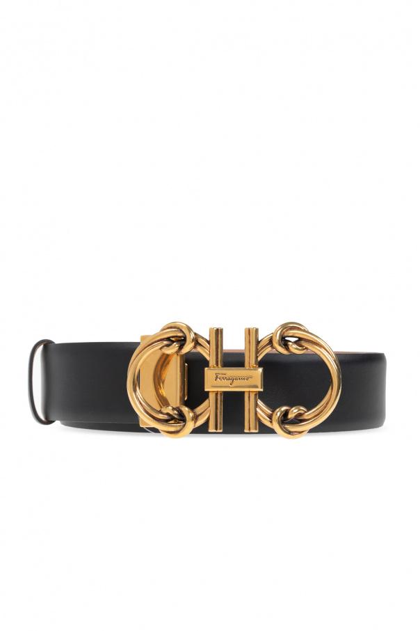 Salvatore Ferragamo Leather belt with logo