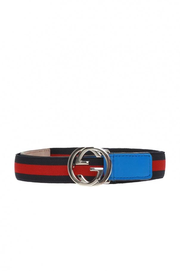 Gucci Kids Elasticated belt with logo