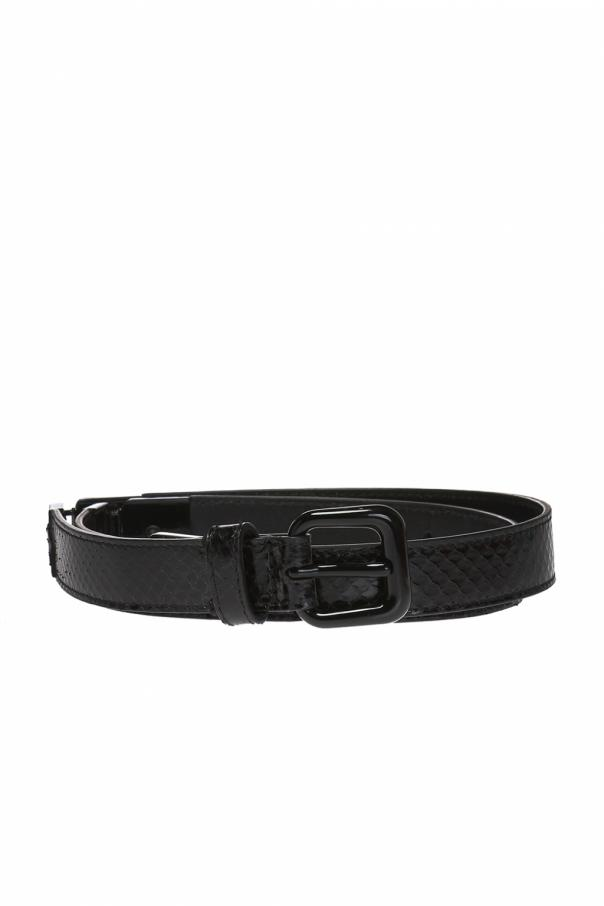 Black water snake intrecciato belt od Bottega Veneta