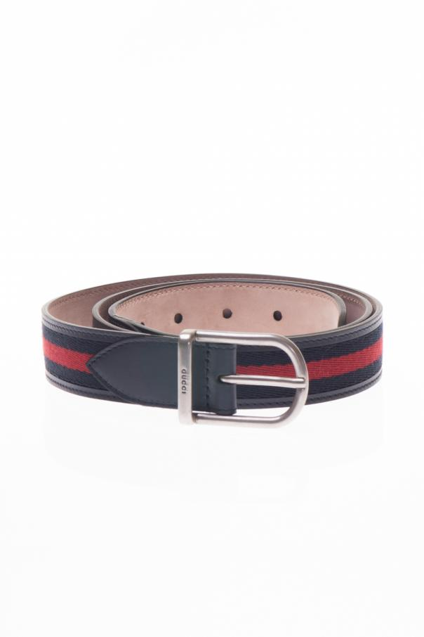 c492b6e146e Leather Belt with Rounded Buckle Gucci - Vitkac shop online