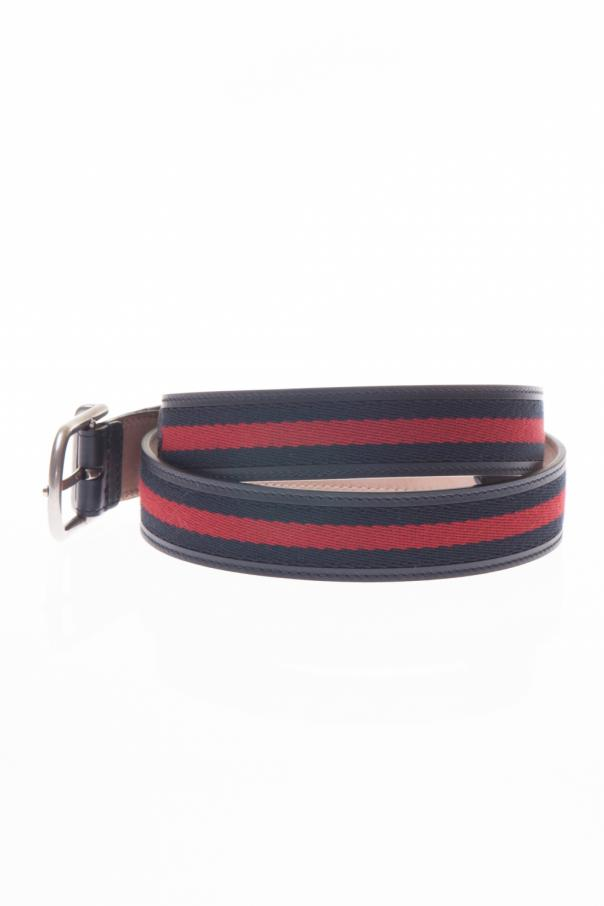 51c04c996 Leather Belt with Rounded Buckle Gucci - Vitkac shop online