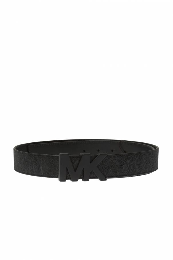 Leather belt with logo od Michael Kors