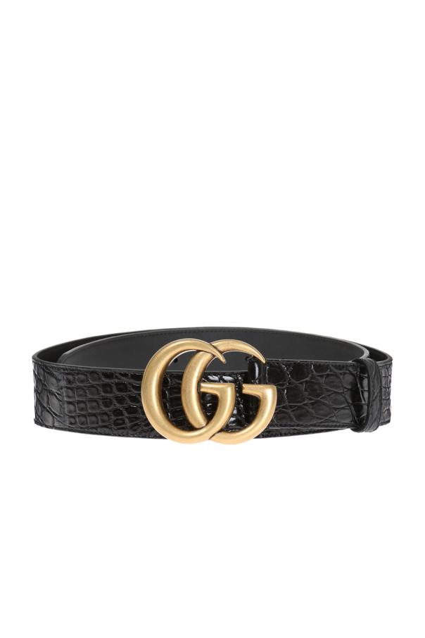 Crocodile skin belt od Gucci