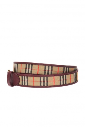 Belt with a plaid pattern od Burberry