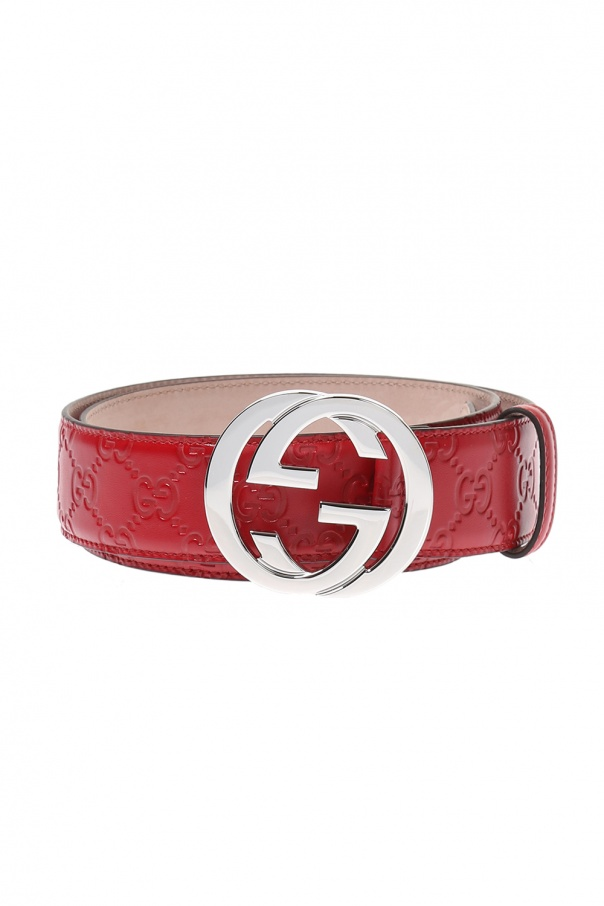 5e3a00b796e GG Original  pattern leather belt Gucci - Vitkac shop online