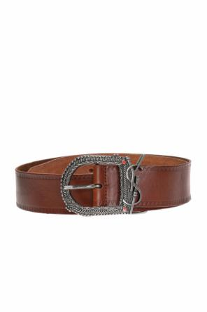 Belt with decorative buckle od Saint Laurent