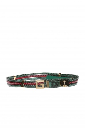 Belt with logo-shaped buckle od Gucci