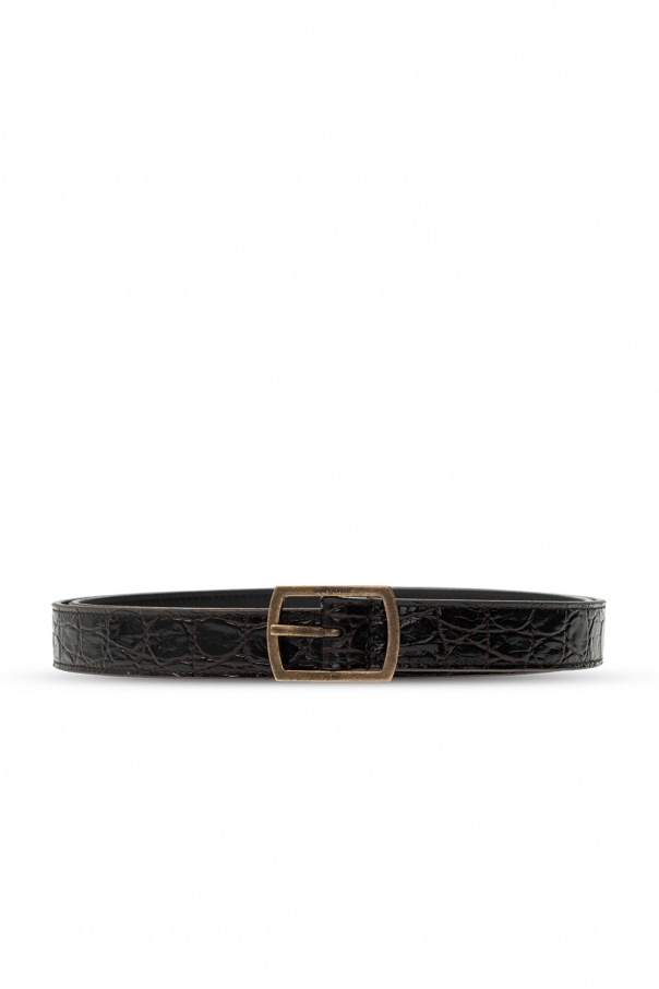 Saint Laurent Logo belt