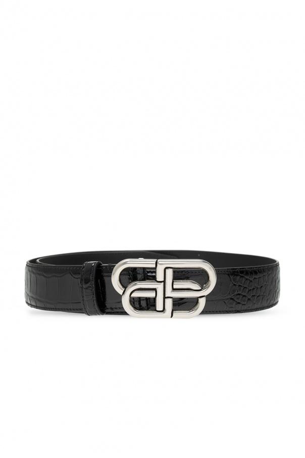 Balenciaga Leather belt with logo