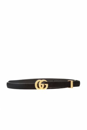 Suede belt with logo od Gucci