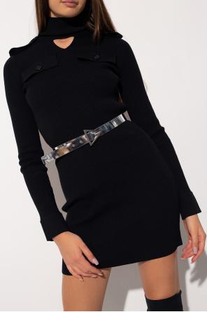 Leather belt with logo od Bottega Veneta