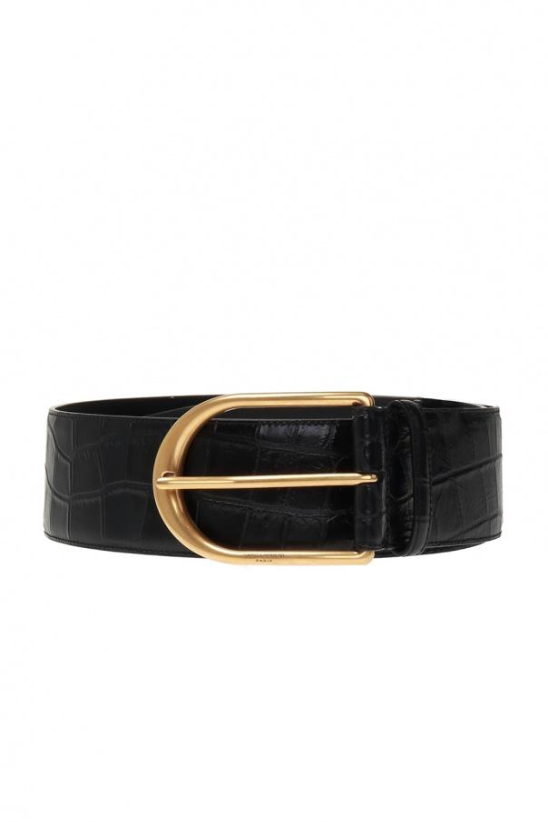 Saint Laurent Leather belt with logo