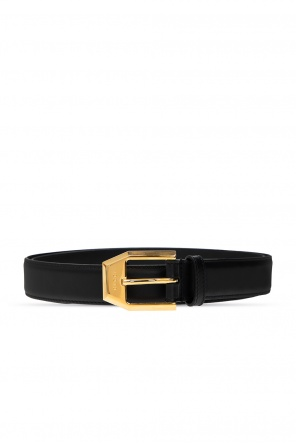 Leather belt with logo od Gucci