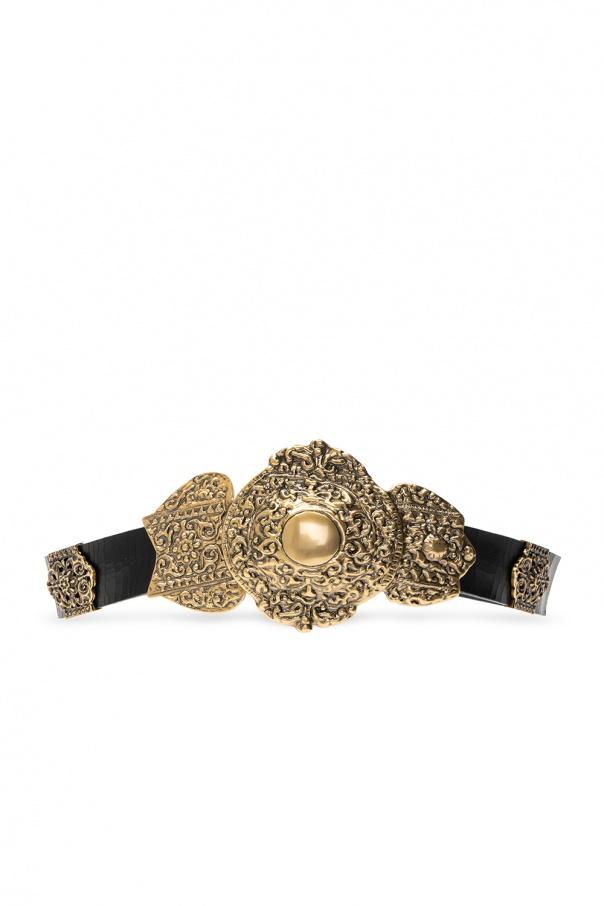 Saint Laurent Decorative buckle belt