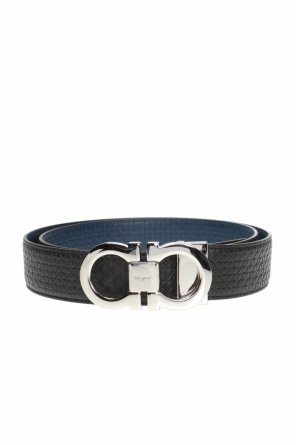 Two-layered belt with gancini motif od Salvatore Ferragamo