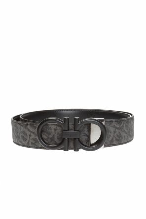Two-layered belt with gancini motif od Salvatore Ferragamo