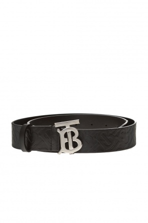 Leather belt with logo od Burberry