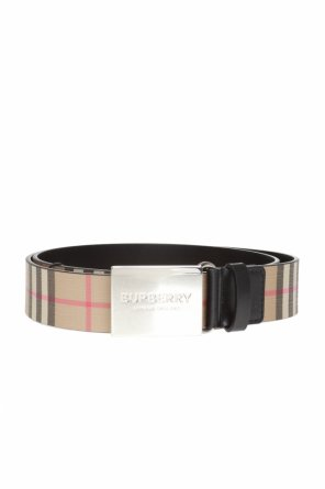 Patterned belt with decorative buckle od Burberry