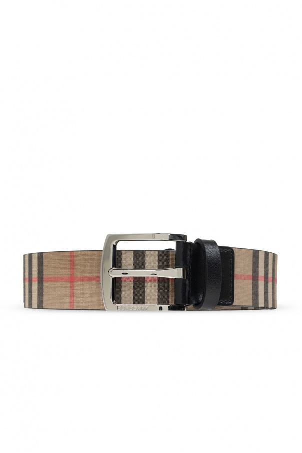 Burberry Checked belt
