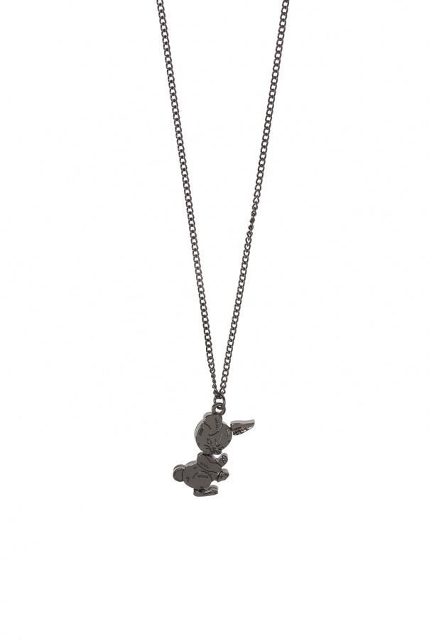 Rabbit charm necklace od Diesel