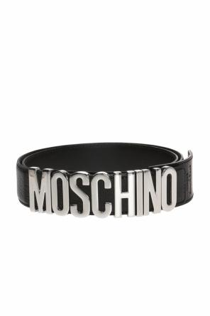 Belt with decorative buckle and logo od Moschino