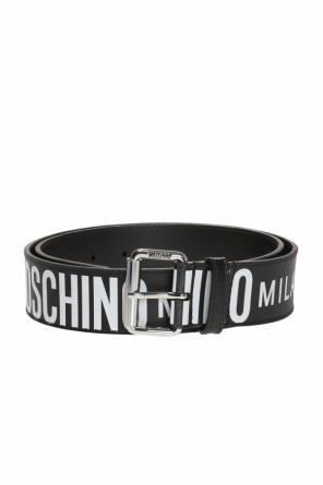 Belt with printed logo od Moschino