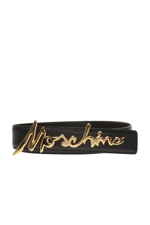 Moschino Buckle belt with logo