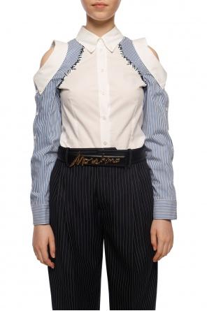 Buckle belt with logo od Moschino