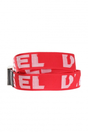 Logo-embroidered long belt od Diesel