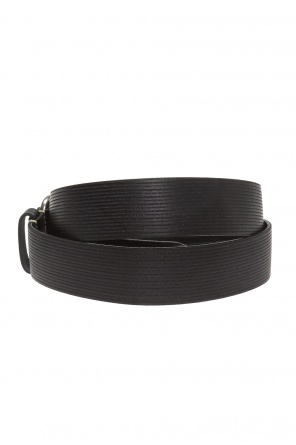 Leather belt with a logo od Diesel
