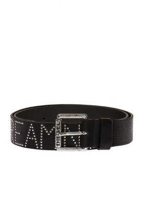 Studded leather belt od Diesel