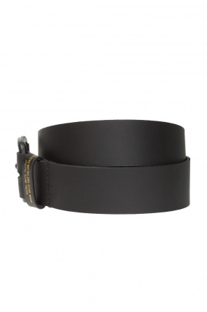 Leather belt with logo od Diesel
