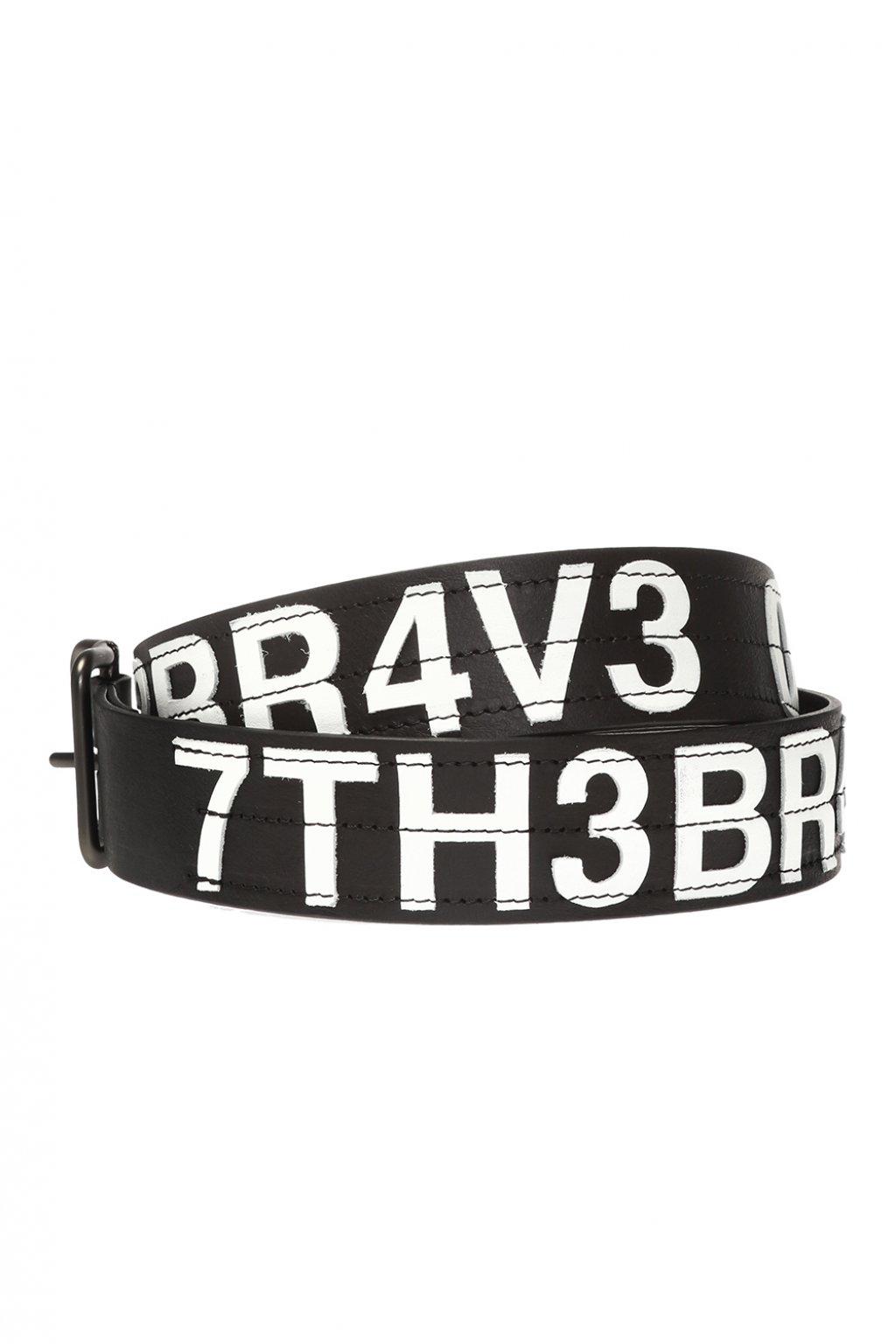 Diesel Belt with tactile lettering